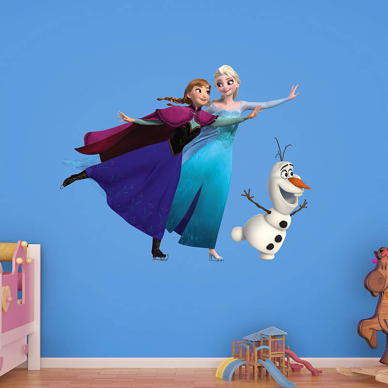 Elsa and Anna Ice Skating Disney Frozen Wall Decal